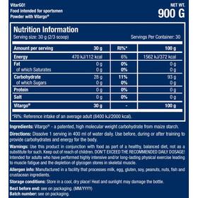 SCITEC Vitargo Carboloader Bebida en Polvo 900g, unflavored